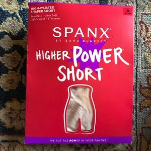 SPANX HIGHER POWER SHORT SIZE M NUDE COLOR